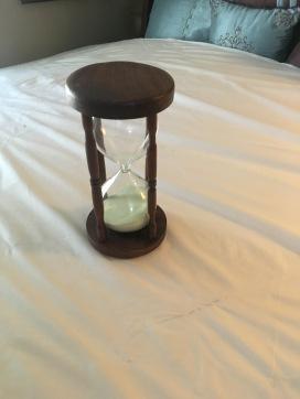 An Hourglass in Walnut